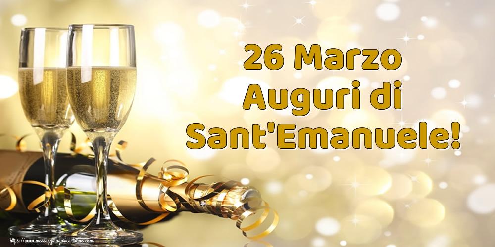 Cartoline di Sant'Emanuele - 26 Marzo Auguri di Sant'Emanuele!