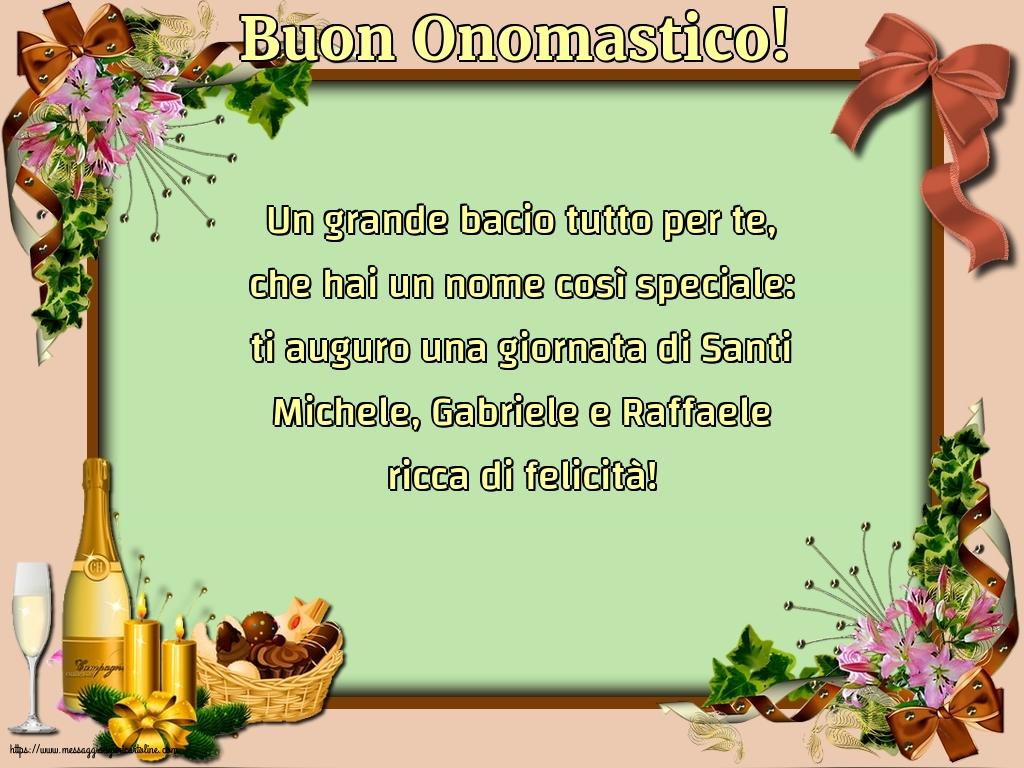 Cartoline di Santi Michele, Gabriele e Raffaele - Buon Onomastico!
