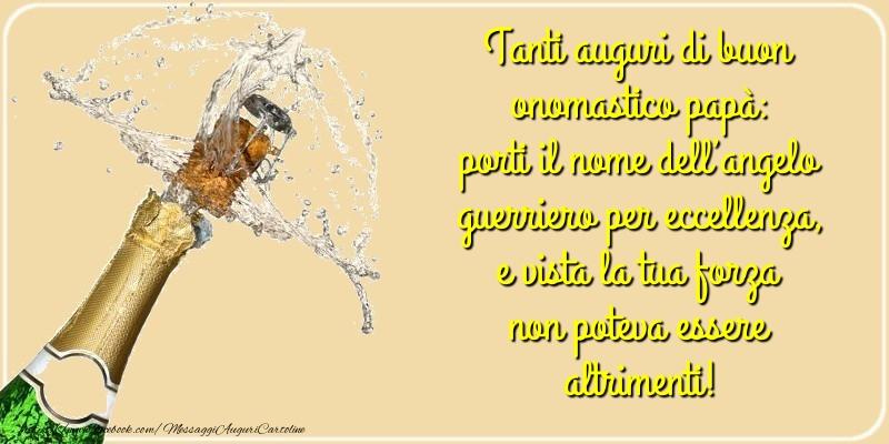 Cartoline di Santi Michele, Gabriele e Raffaele - Tanti auguri di buon onomastico papà