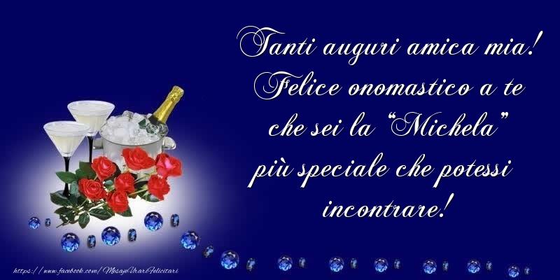 Cartoline di Santi Michele, Gabriele e Raffaele - Tanti auguri amica mia!