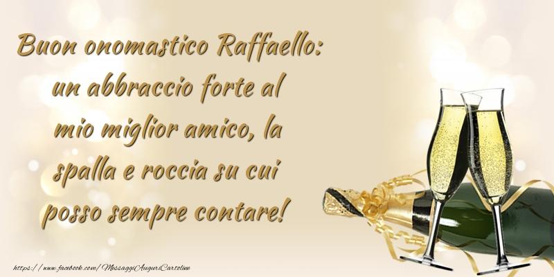 Cartoline di Santi Michele, Gabriele e Raffaele - Buon onomastico Raffaello