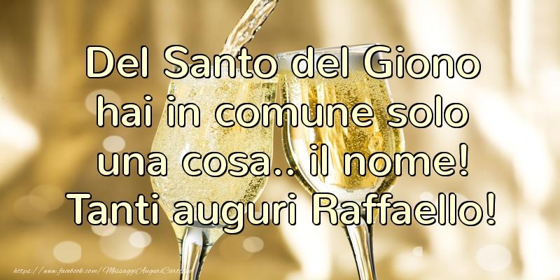 Cartoline di Santi Michele, Gabriele e Raffaele - Tanti auguri Raffaello
