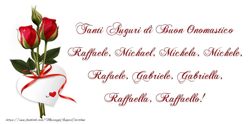 Cartoline di Santi Michele, Gabriele e Raffaele - Tanti Auguri di Buon Onomastico
