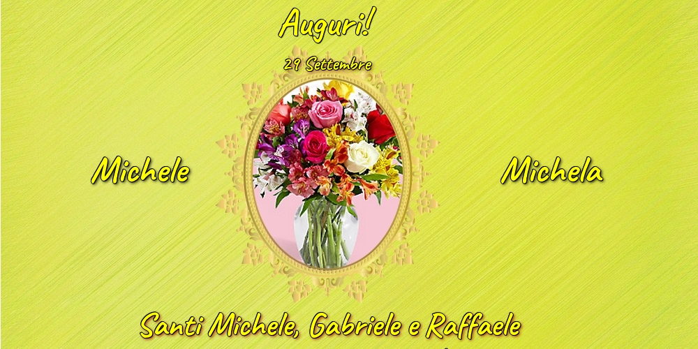 Cartoline di Santi Michele, Gabriele e Raffaele - 29 Settembre - Santi Michele, Gabriele e Raffaele