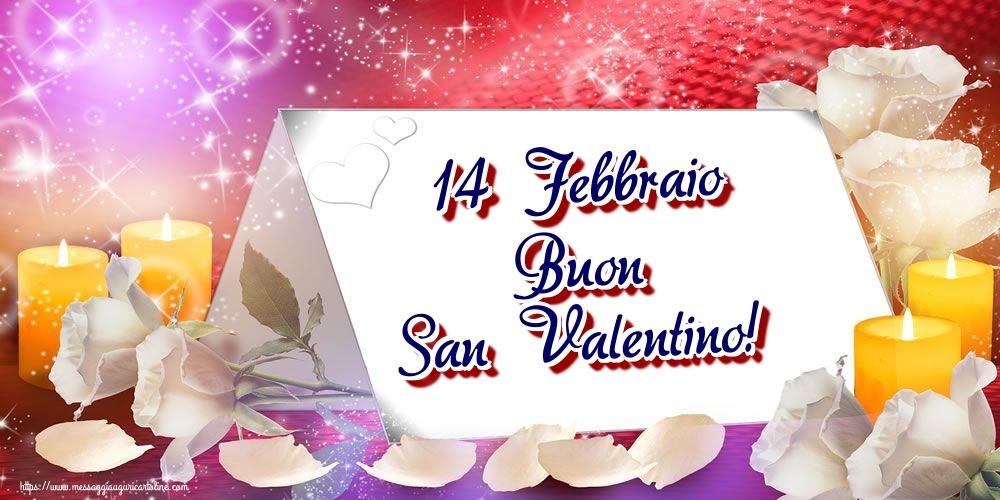 Cartoline di San Valentino - 14 Febbraio Buon San Valentino!