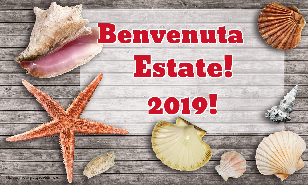Cartoline per la Solstizio d Estate - Benvenuta Estate! 2019!