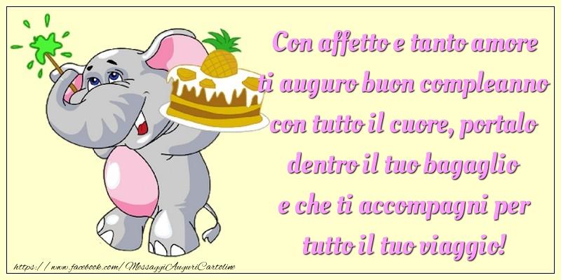 Messaggi per bambini - Con affetto e tanto amore ti auguro buon compleanno - messaggiauguricartoline.com