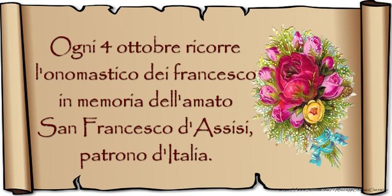 Messaggi di San Francesco - San Francesco d'Assisi, patrono d'Italia. - messaggiauguricartoline.com