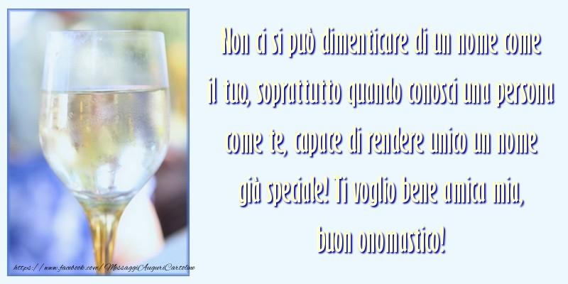 Messaggi di San Francesco - Ti voglio bene amica mia, buon onomastico! - messaggiauguricartoline.com