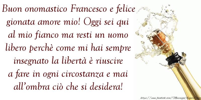 Messaggi di San Francesco - Buononomastico Francesco - messaggiauguricartoline.com