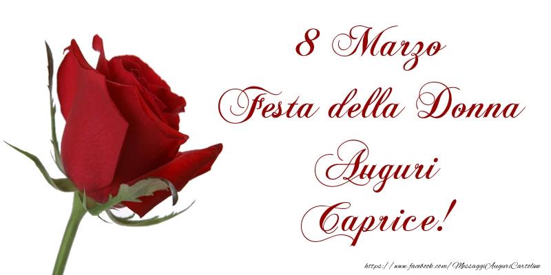 Cartoline di 8 Marzo - 8 Marzo Festa della Donna Auguri Caprice!
