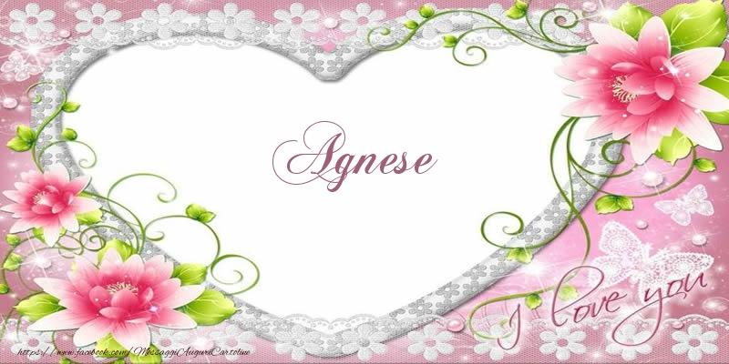 Cartoline d'amore - Agnese I love you