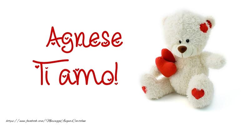 Cartoline d'amore - Agnese Ti amo!