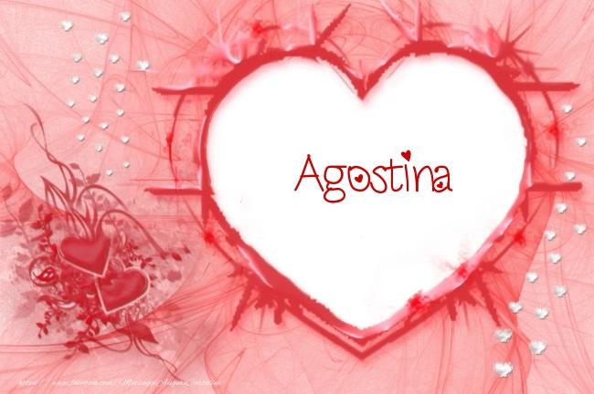 Cartoline d'amore - Love Agostina!