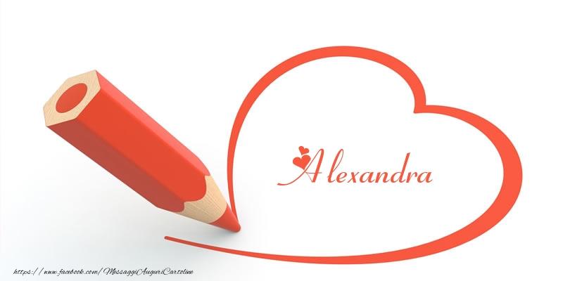 Cartoline d'amore - Cuore per Alexandra!