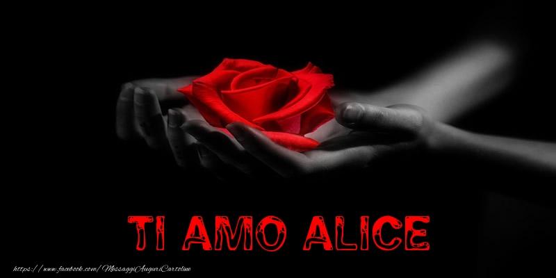 Cartoline d'amore - Ti Amo Alice