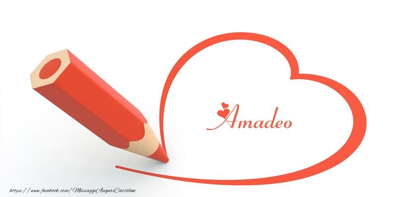 Cartoline d'amore - Cuore per Amadeo!