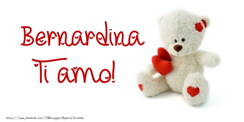 Cartoline d'amore - Bernardina Ti amo!
