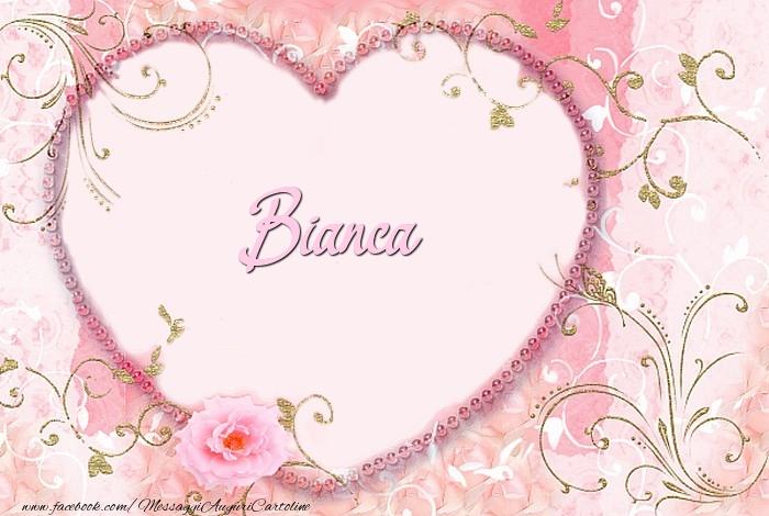 Cartoline d'amore - Bianca