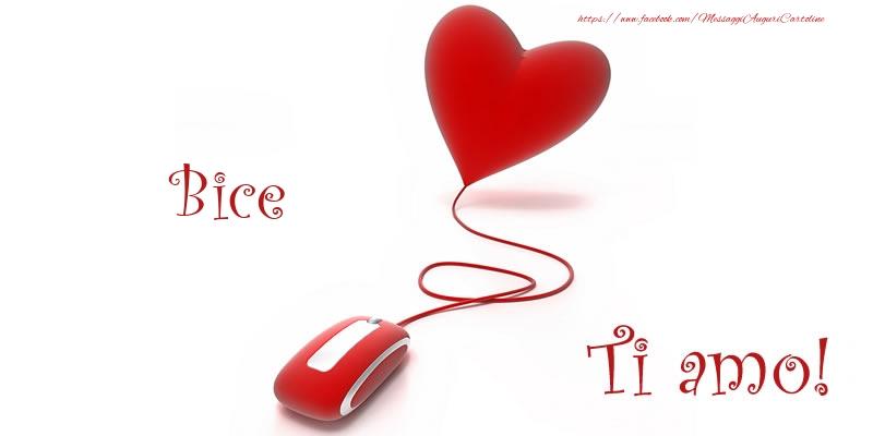 Cartoline d'amore - Bice Ti amo!