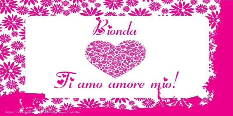 Cartoline d'amore - Bionda Ti amo amore mio!