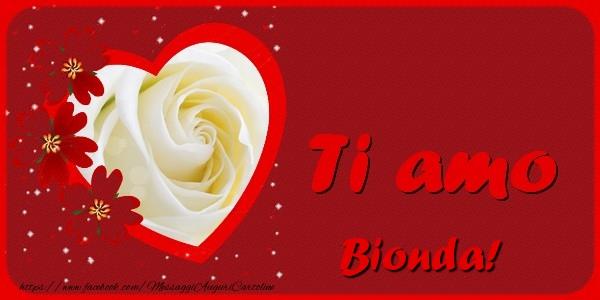Cartoline d'amore - Ti amo Bionda