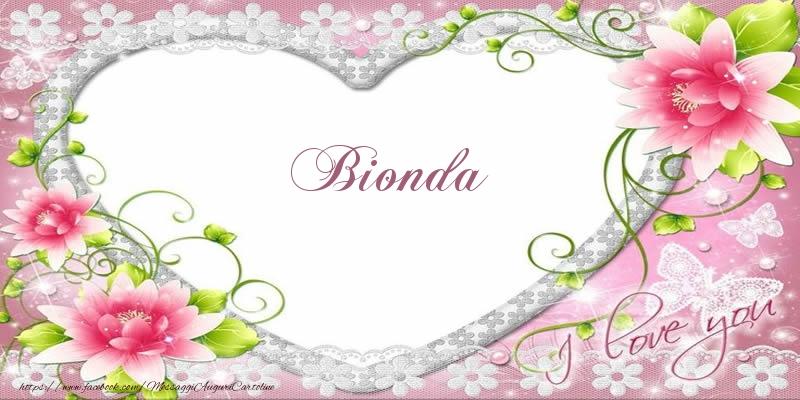 Cartoline d'amore - Bionda I love you