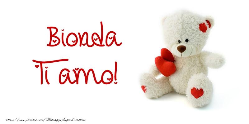 Cartoline d'amore - Bionda Ti amo!