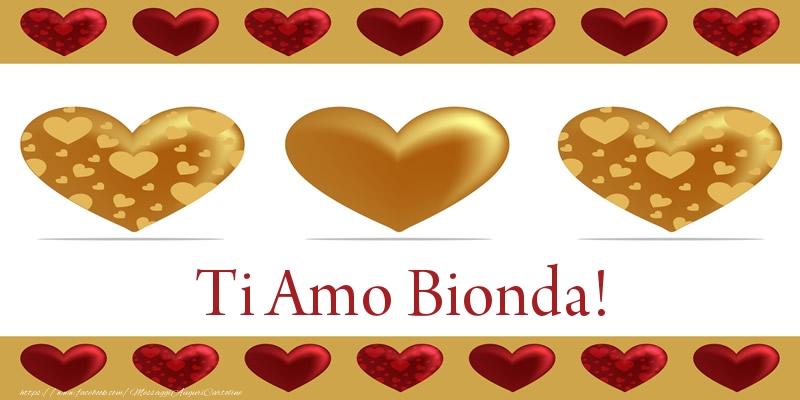 Cartoline d'amore - Ti Amo Bionda!
