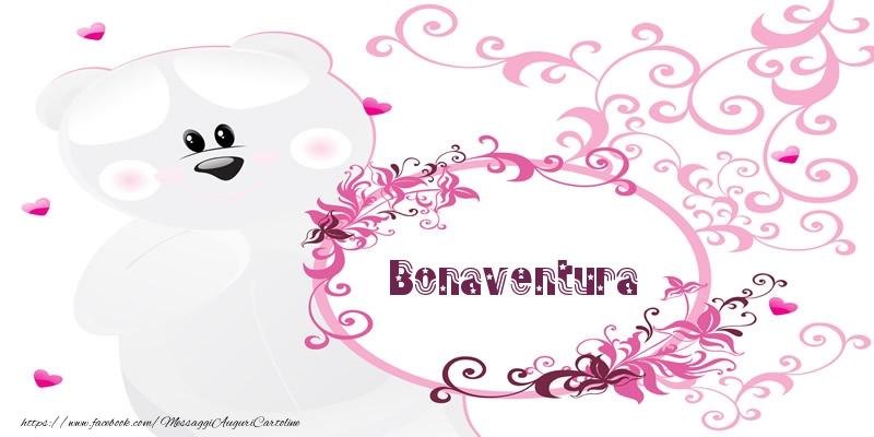 Cartoline d'amore - Bonaventura Ti amo!
