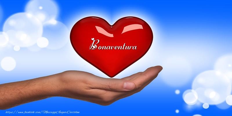 Cartoline d'amore - Nome nel cuore Bonaventura