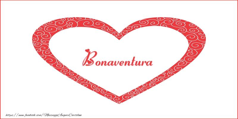 Cartoline d'amore - Bonaventura | Nome nel Cuore