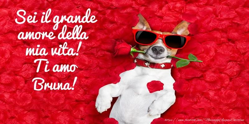 Cartoline d'amore - Sei il grande amore della mia vita! Ti amo Bruna!