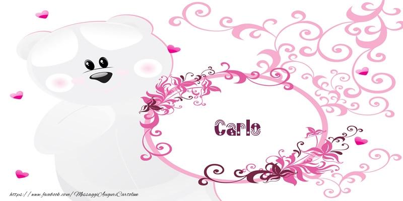 Cartoline d'amore - Carlo Ti amo!