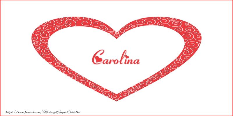 Cartoline d'amore - Carolina | Nome nel Cuore