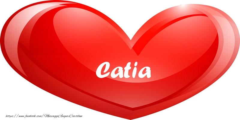 Cartoline d'amore - Il nome Catia nel cuore
