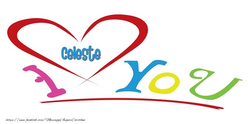 Cartoline d'amore - I love you Celeste