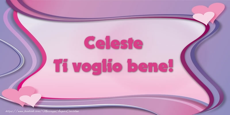 Cartoline d'amore - Celeste Ti voglio bene!