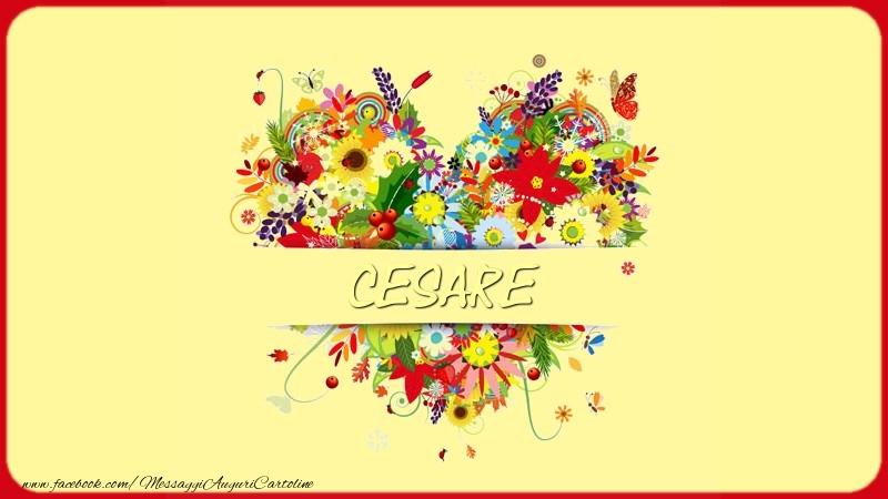 Cartoline d'amore - Nome nel cuore Cesare
