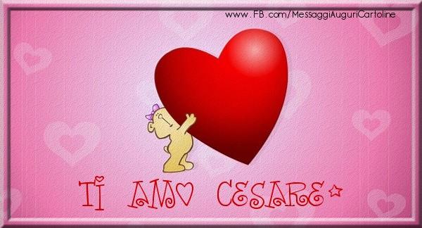 Cartoline d'amore - Ti amo Cesare