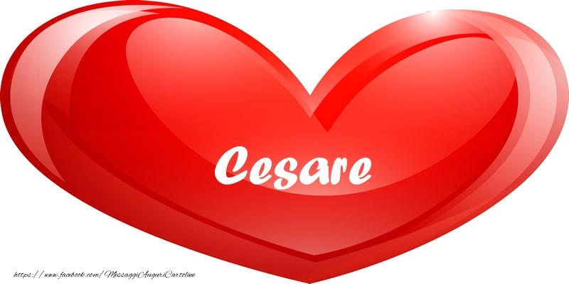 Cartoline d'amore - Il nome Cesare nel cuore