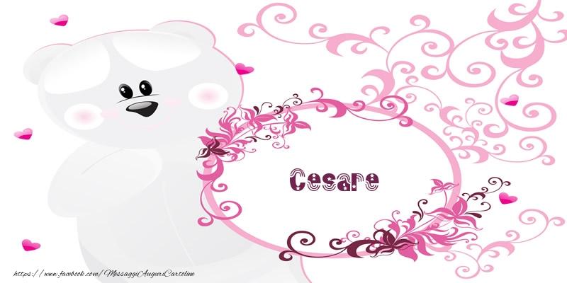 Cartoline d'amore - Cesare Ti amo!