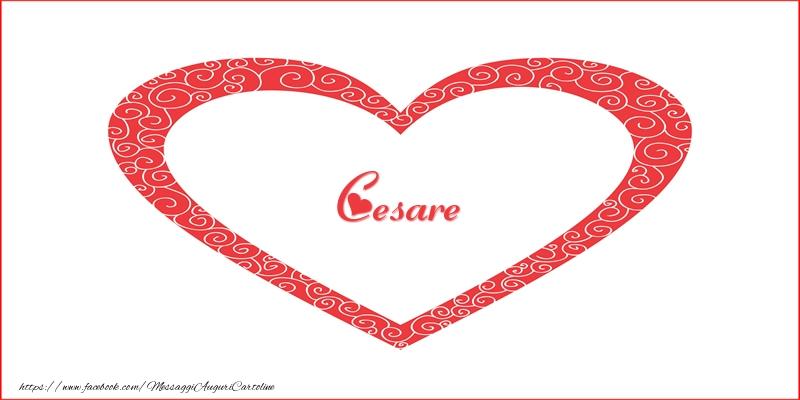 Cartoline d'amore - Cesare | Nome nel Cuore
