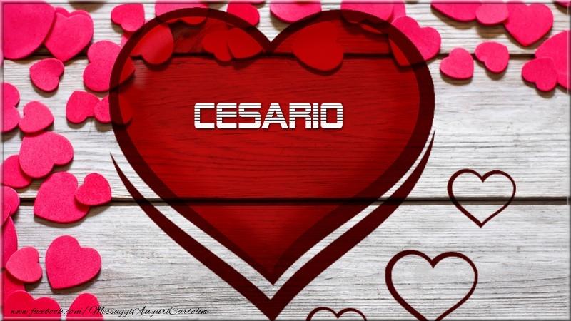 Cartoline d'amore - Nome nel cuore Cesario