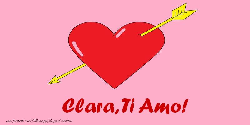 Cartoline d'amore - Clara, ti amo!