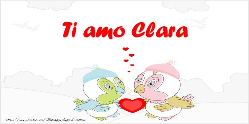 Cartoline d'amore - Ti amo Clara