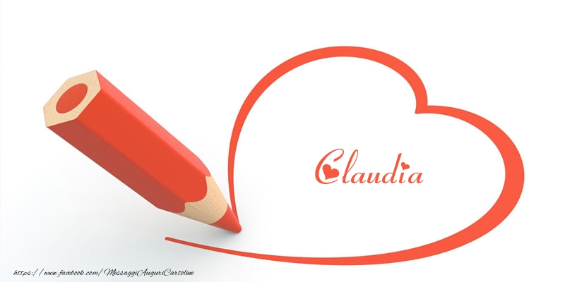 Cartoline d'amore - Cuore per Claudia!