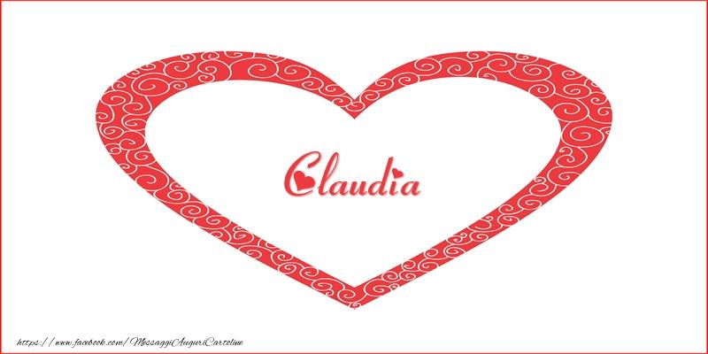 Cartoline d'amore - Claudia | Nome nel Cuore