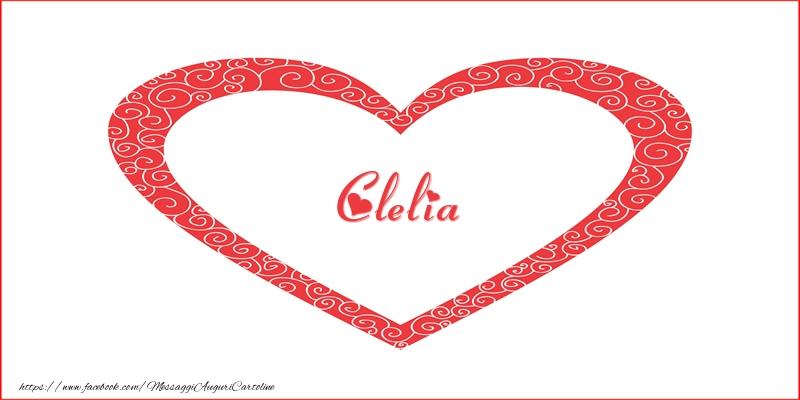 Cartoline d'amore - Clelia | Nome nel Cuore