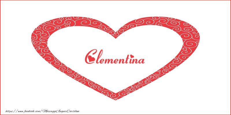 Cartoline d'amore - Clementina | Nome nel Cuore